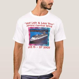 """Geist 8x10, """"heißer Leis u. Lava-Ausflug"""", an Bord T-Shirt"""