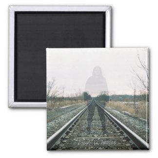 Geist auf Bahnstrecke-Magneten Quadratischer Magnet
