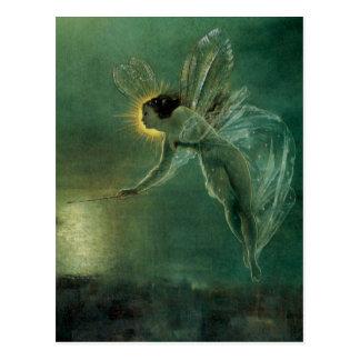 Geist der Nacht durch Grimshaw, viktorianische Fee Postkarten