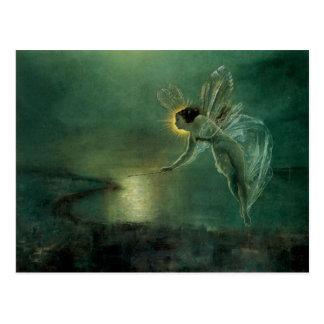 Geist der Nachtviktorianischen feenhaften Postkarte