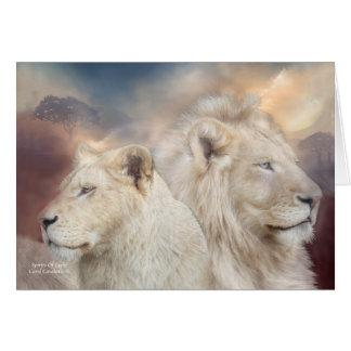 Geist des Lichtes - weißer Löwe ArtCard Karte