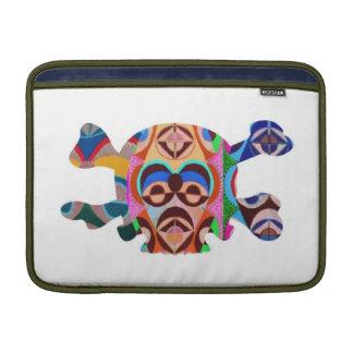 Geist des Schädel-n: Novino Afrikaner-Maskottchen MacBook Sleeve
