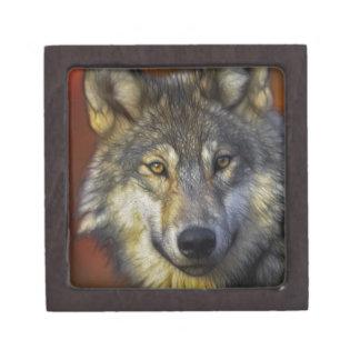 Geist des Wolfs - Therian Wolf-Fotogeschenke Schmuckkiste