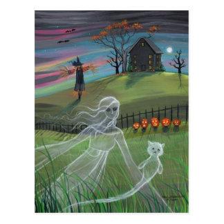 Geist-Freund-Halloween-Postkarte Postkarten