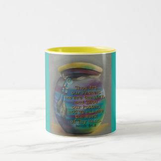 Geist-Glas - Töpfer und Lehm Zweifarbige Tasse