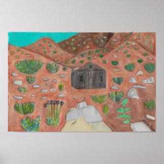 Geist-Haus in Death Valley durch Julia Hanna Poster