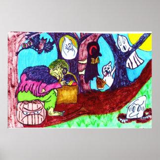 GEIST-, HEXE- UND KOBOLD-Plakat Poster