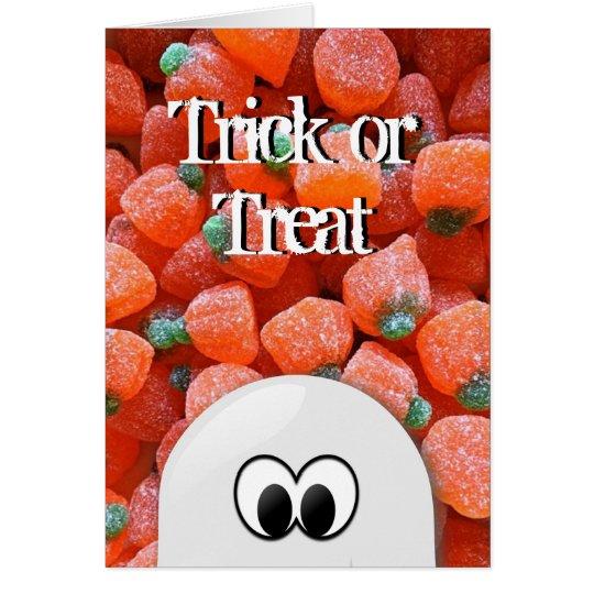 Geist-Kürbis-Süßigkeits-Trick-oder Grußkarte