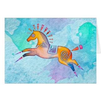 Geist-Pony-freier Raum Notecard Karte