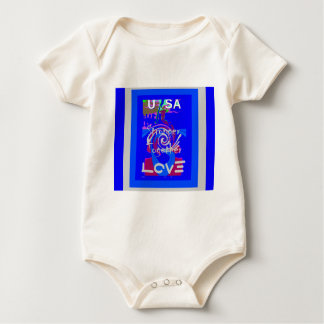 Geist Präsidenten Stronger Together Hillary-USA Baby Strampler