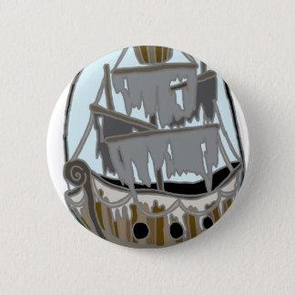 Geist-Schiff Runder Button 5,1 Cm