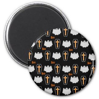 Geist-und Kasten Halloween-Muster Runder Magnet 5,7 Cm