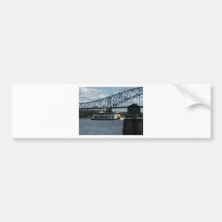 Geist von Dubuque auf Fluss Mississipi Autoaufkleber
