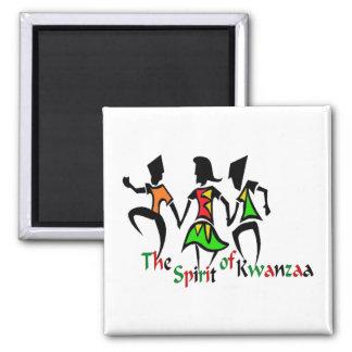 Geist von Kwanzaa Quadratischer Magnet