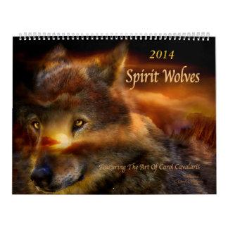 Geist-Wolf-Kunst-Kalender 2014 Abreißkalender