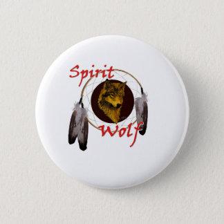 Geist-Wolf Runder Button 5,1 Cm