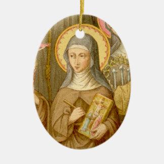 Geisterbild-St. Catherine von Bologna (SAU 027) Keramik Ornament