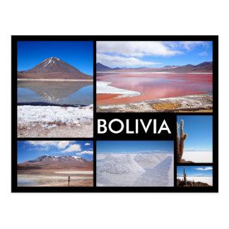 Geisterbildcollagenschwarz-Textpostkarte Boliviens Postkarte