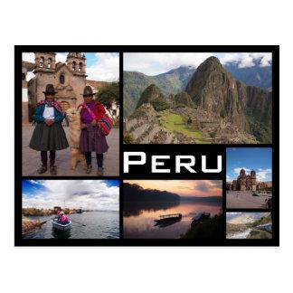 Geisterbildcollagenschwarz-Textpostkarte Perus Postkarte