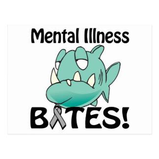 Geisteskrankheit BEISST (Grau) Postkarte
