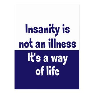 Geisteskrankheit ist nicht eine Krankheit Postkarte