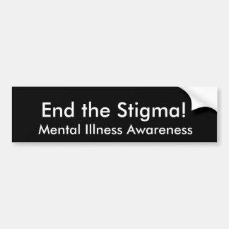 Geisteskrankheits-Bewusstsein, beenden die Autoaufkleber