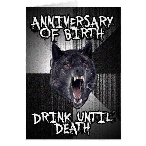 Geisteskrankheits-Wolfgeburtstagskarte Grußkarten