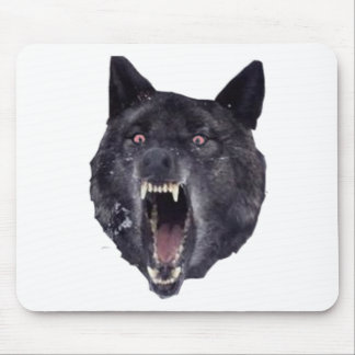 Geisteskrankheitswolf Mauspads