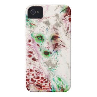 GeistFox mustert abstraktes Kunst-Rot und Weiß Case-Mate iPhone 4 Hüllen