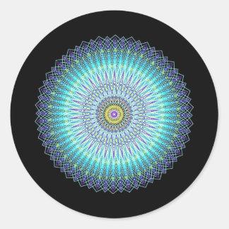 Geistige Mandala-Geschenke Runde Sticker