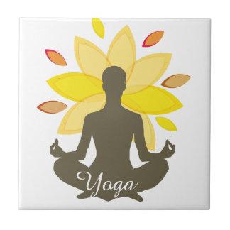 Geistige Meditations-Yoga-Pose Illustation Keramikfliese