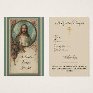 Geistiger Blumenstrauß-Gebet, das heilige Karte