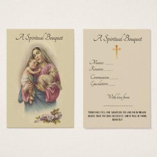 Geistiger Blumenstrauß-Gebets-heilige Karte
