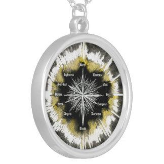 Geistiger Kompass Halskette Mit Rundem Anhänger