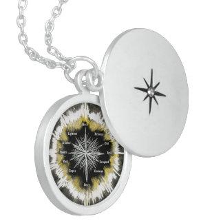 Geistiger Kompass Runde Medaillon Halskette