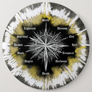 Geistiger Kompass Runder Button 15,3 Cm