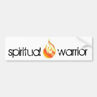 geistiger Krieger-Autoaufkleber Autoaufkleber
