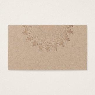 Geistiger weißer Lotos-Blumemandala-Yoga-Lehrer Visitenkarte