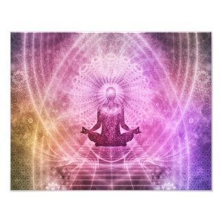 Geistiger Yoga-Meditations-Zen bunt Fotodruck