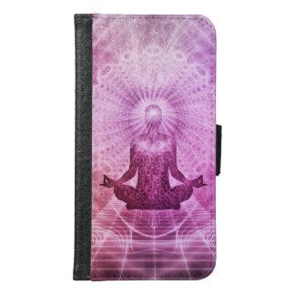 Geistiger Yoga-Meditations-Zen bunt Geldbeutel Hülle Für Das Samsung Galaxy S6