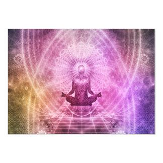 Geistiger Yoga-Meditations-Zen bunt Karte