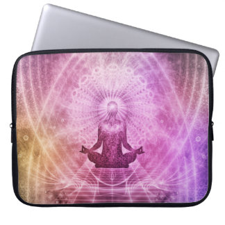 Geistiger Yoga-Meditations-Zen bunt Laptop Sleeve