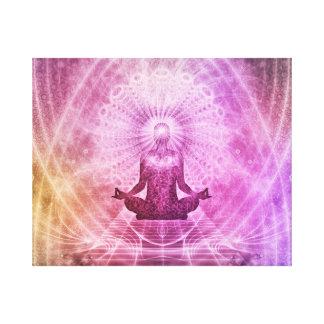 Geistiger Yoga-Meditations-Zen bunt Leinwanddruck