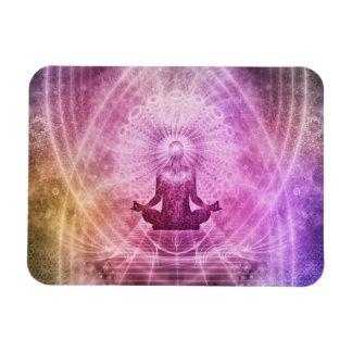Geistiger Yoga-Meditations-Zen bunt Magnet