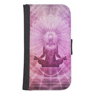 Geistiger Yoga-Meditations-Zen bunt Phone Geldbeutel