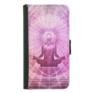 Geistiger Yoga-Meditations-Zen bunt Samsung Galaxy S5 Geldbeutel Hülle