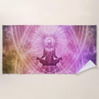 Geistiger Yoga-Meditations-Zen bunt Strandtuch