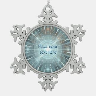 Geistiges Fenster Schneeflocken Zinn-Ornament
