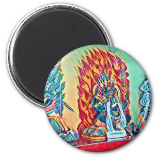 Geistiges Feuer Runder Magnet 5,7 Cm