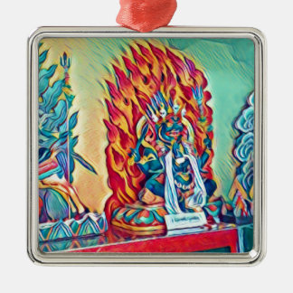 Geistiges Feuer Silbernes Ornament